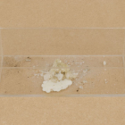 Richard Evans, 103x300x127, 2008, perspex, wax, dust, 4 1/2 x 11.8 1/8 x 5 1/8 in.