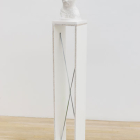 Anders Clausen, Untitled #26c (white head), 2007, plaster, wood, paint, 65 x 9 x9 in.
