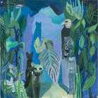 Bast, Horus, and Isis in the Jungle, 20 x 20 inches , oil on canvas on panel, 2012.