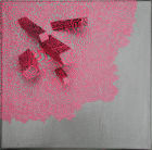 Fluorecsent Pink Line on Silver