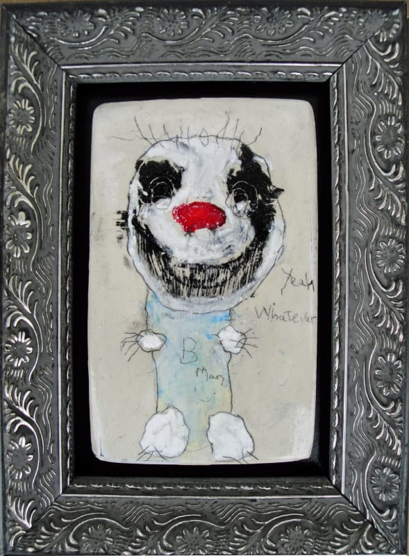 Yeah, Whatever, by Richard Campiglio, mixed media 5.5 x7.5 in framed 2013 (sold)