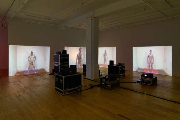 Installation view, Foxy Production, New York. Photo by Mark Woods.