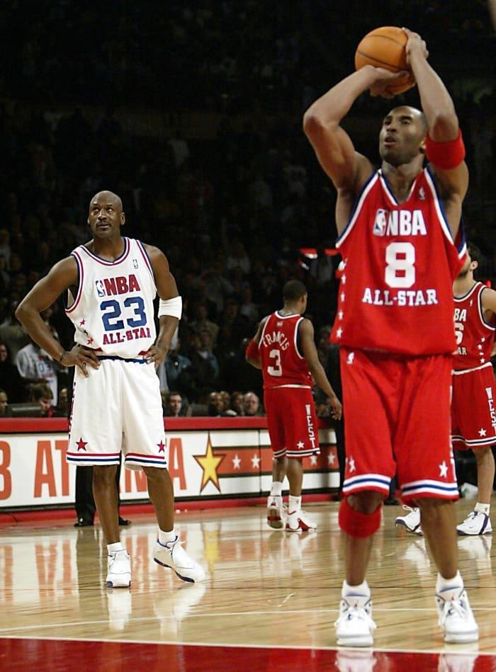 ...but not before MJ and Kobe talk trash