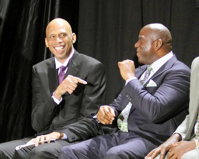 Magic Johnson and Kareem Abdul-Jabbar, Los Angeles Lakers