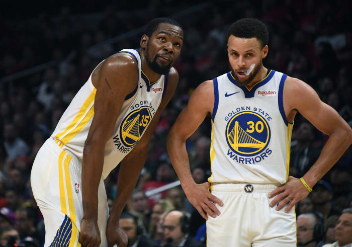 Stephen Curry and Kevin Durant, Golden State Warriors