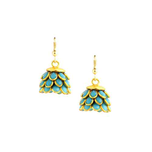 Antique Gold Plated Jhumka Earrings