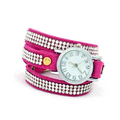 Pink Diamond Wrap Watch