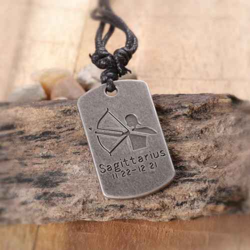 Zodiac Sign 'Sagittarius' Pendant for Men