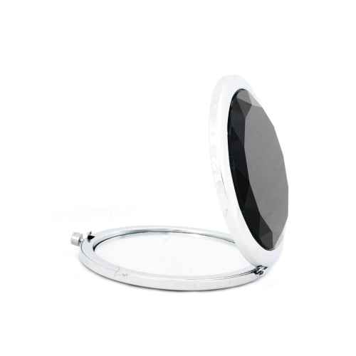 Black Glass Compact Mirror