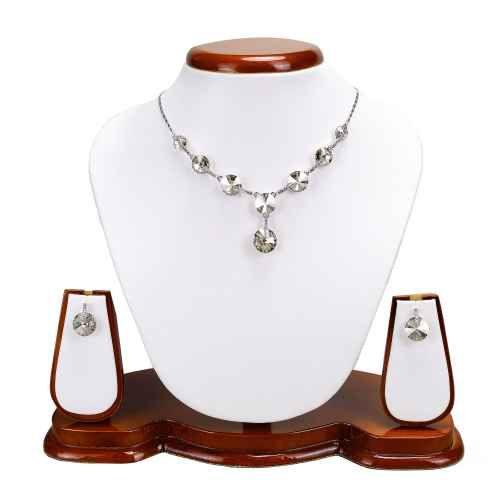 Round Drop Clear Crystal made with Elemets from Swarovski - Necklace and Earring Set