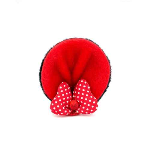 Cute Bow Clips in Red for Kids