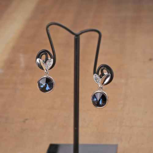 Black Suave Swarovski Crystal Earrings