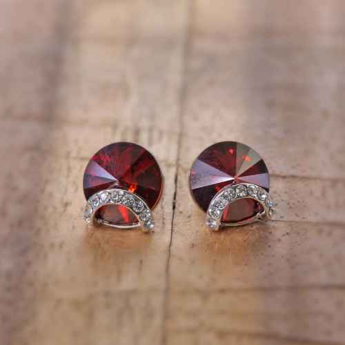Blood Red Lucky Earrings made with Elements from Swarovski