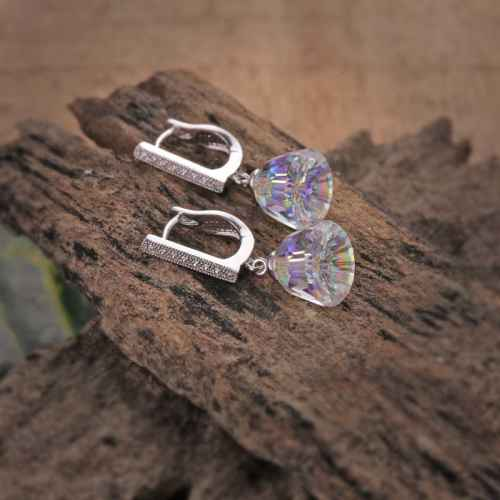Bell Shaped Sparkling Swarovski Crystal Earrings
