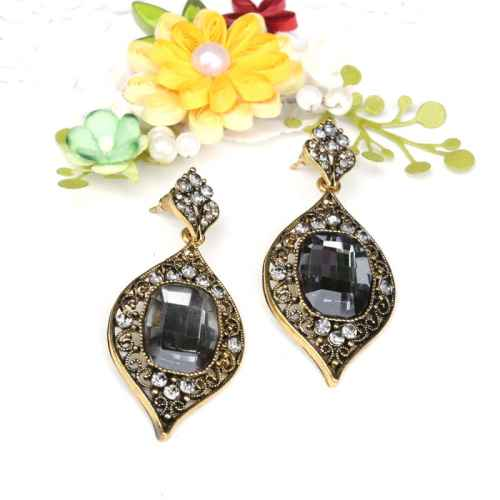 Indian Black Stone Earrings