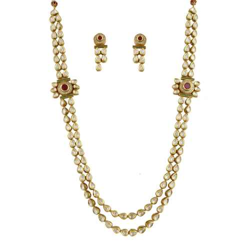 Heirloom-Quality Gold Plated Kundan Set