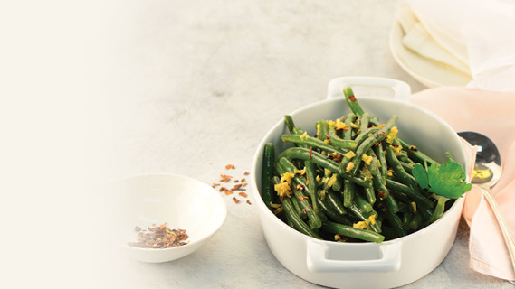 Green Beans With Garlic And Chilli Dressing