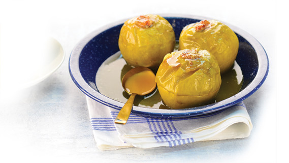 Baked Apples With Almonds And Apricots