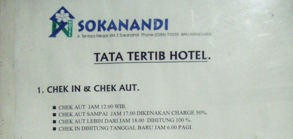 Tata Tertib Hotel: CHEK IN & CHEK AUT