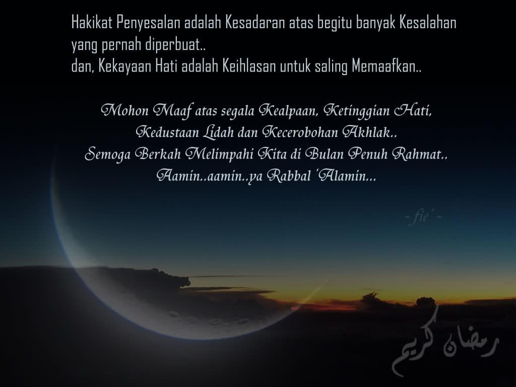 Mohon Maaf Jelang Ramadhan