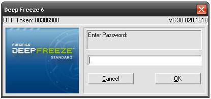Deep Freeze Password