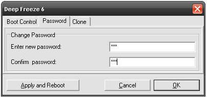 Deep Freeze Set Password