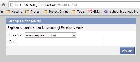 Halaman Web Berbagi Tautan