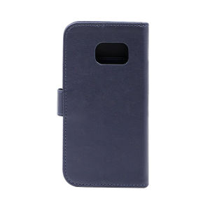 Genuine leather  wallet case for Samsung s7 blue