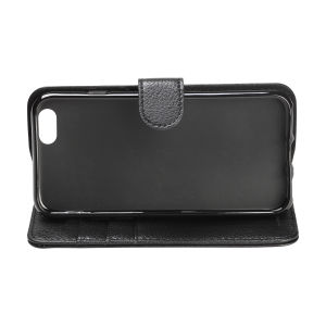 For iPhone 6/6S wallet case real leather case black