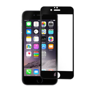 For iPhone 6 2.5D 0.3mm 9H Tempered Glass Screen Protector Black