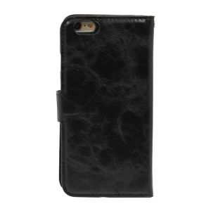 For iPhone 6 PU Leather Magnetic detachable Case Black