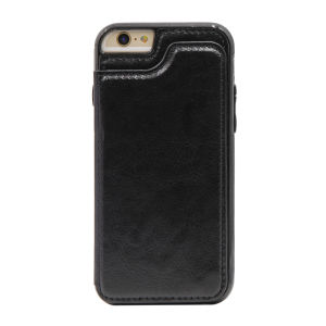 For iPhone 6/6S PU Leather Wallet Case Black