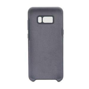 For Samsung Galaxy SM-G955F S8 Plus Silicone Plain Matte Case Black