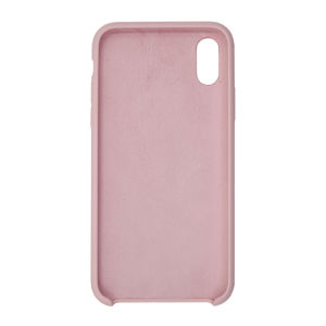 For iPhone X Silicon Case Light Pink