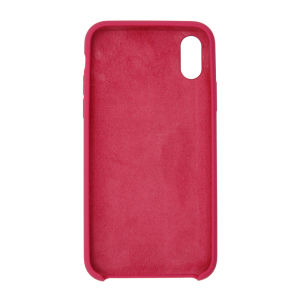 For iPhone X Silicon Case Rose Red