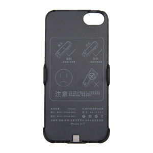 For iPhone 6/6S/7 Battery Charger Case 3000mAh Black