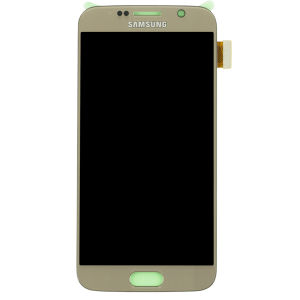 For Samsung SM-G920F S6 LCD Original Assembly Gold