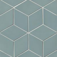 "Costa Allegra 4.5"" x 8"" x 1/2"" Floor and Wall Tile in Tide"