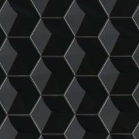 "Hedron 5"" x 4"" Wall Tile in Black"
