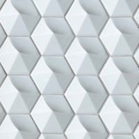 "Hedron 5"" x 4"" Wall Tile in Sky Blue"