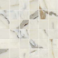 "Classic 2.0 2"" x 2"" Floor and Wall Mosaic in Calacatta Oro"
