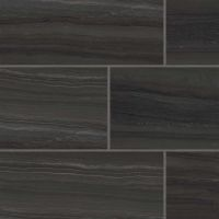 "Highland 18"" x 36"" Floor and Wall Tile in Black"