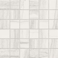 "Highland 2"" x 2"" Floor and Wall Mosaic in White"