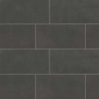 "Simply Modern 12"" x 24"" x 3/8"" Floor and Wall Tile in Black"