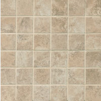 "Fantasia 2"" x 2"" Floor and Wall Mosaic in Beige"