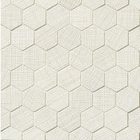 "Lido 2"" x 2"" Floor and Wall Mosaic in White"