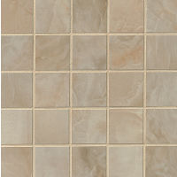 "Onyx 2"" x 2"" Floor and Wall Mosaic in Camel"