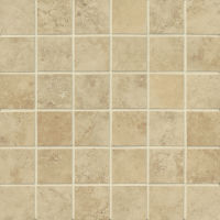 "Roma 2"" x 2"" Floor and Wall Mosaic in Beige"