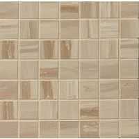 "Rose Wood 1-1/2"" x 1-1/2"" Floor and Wall Mosaic in Camel"