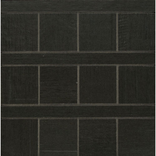 Barrique Floor and Wall Mosaic in Noir
